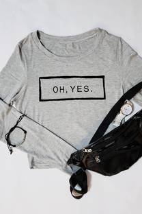 viscosa remera doble BOX estampado OH yes -