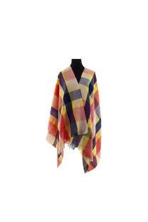 Modelo #47 Mantón multicolor de acrílico frizado desflecado.  Medidas: 70 cm x 180 cm -