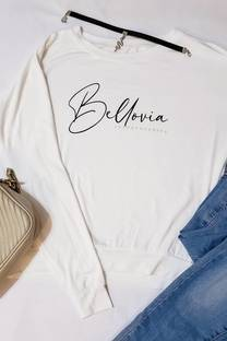 viscosa remera grande con puno estampado bella  -