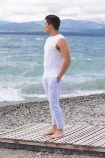 Pantalon Ibiza azul -