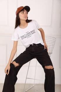 REMERA DONT LOOK BACK -