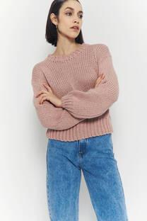 Sweater lana manga globo -