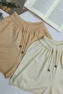 Short tejido con cordon -