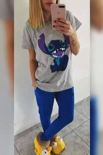 Pijama stich con remeron -