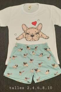 Pijama Sublimado Bulldog -