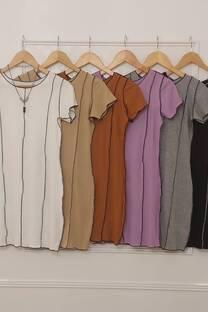 Vestido Gemma De Morley Corto Con Costuras Verticales -