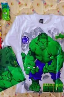 Camiseta Hulk estampa Plastisol -