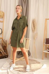 SAFARI - Vestido safari de twill rayon