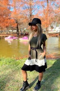 Vestido tricolor BARCELONA -