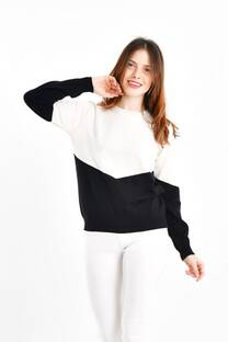 Sweater en v -