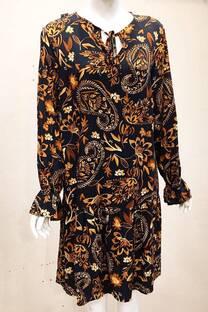 Vestido largo fruncido -