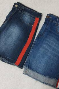 Pollera jean con franja -