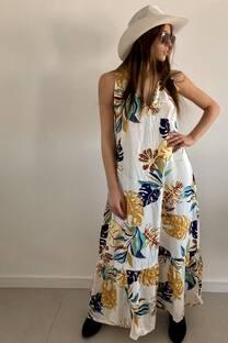 Vestido PEDRAZA HOJAS -