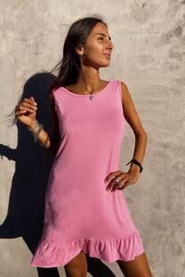 Vestido Tropez Musculosa De Modal Viscosa Con Voladitos En El Ruedo -
