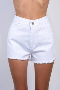 Short Rigido Blanco Desflecado -