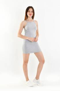 vestido tira de algodon c/lycra -