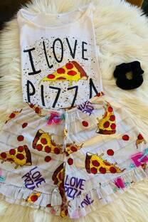 Pijama I Love Pizza -