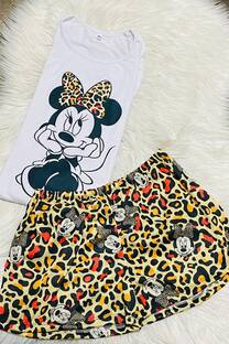 Pijama Minnie Print