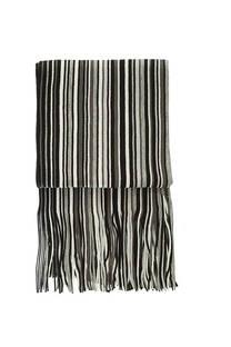 Bufanda de lana rayada con flecos premium de hombre.  Medidas: 200 cm x 20 cm / Peso: 150 gramos