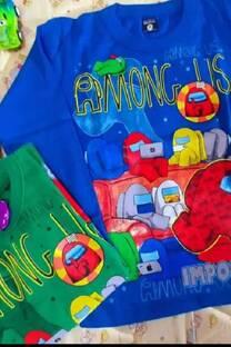 Camiseta amoung us Estampa plastisol -