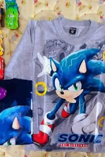 Camiseta Sonic Estampa plastisol -