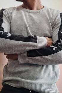 Sweater Liso Combinado -