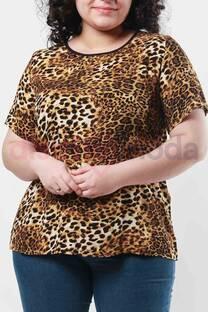Blusa Espalda Cruzada Animal Print  -