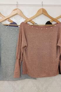 Sweater Lanilla Selene Con Detalles De Perlas -