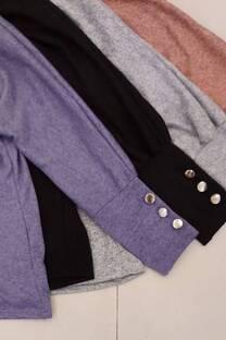 Sweater Lanilla Moly Con Detalles De Botones En Puño -