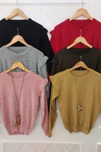 Sweater Lara Con Detalle Voladitos En Hombros -