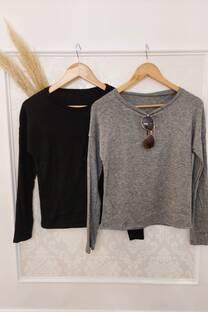 Sweater Erika Lanilla Bremer Combinada Con Lanilla Morley En Manga -