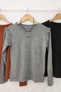 Sweater Luna Lanilla Bremer Con Voladitos En El Hombro -