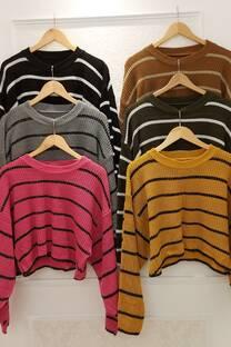 Sweater Guadalupe Rayado Con Lurex -