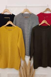 Sweater Caterine Oversize Con Tajos A Los Costados -