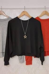 Sweater Lanilla Priscila Manga Globo -