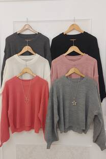 Sweater Alma Manga Globo -