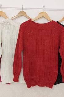Sweater Lupe Tejido Mezclado Con Lurex -