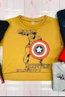 Buzo capitán América frisa -