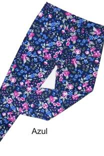 Pantalón nena gabardina estampada elastizada -