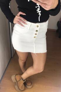 Pollera jean blanco -