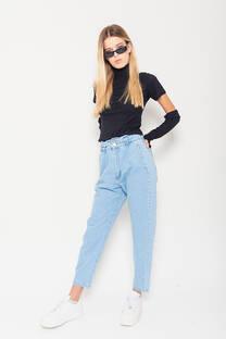 Baggy jeans celeste rigido clasico -