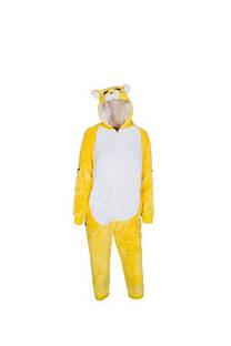 Pijama infantil de tigre con cierre y capucha  Material: Peluche extra suave Color: Amarillo  S: 100 cm M: 110 cm L: 120 cm XL: 130 cm XXL: 140 cm