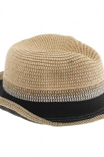 Sombrero tanguero de rafia -