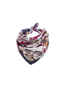 Pañuelo cuadrado de seda con diseño de mariposas.Medidas: 50 cm x 50 cm -
