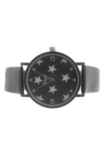 Reloj con malla de cuero ecológico. -