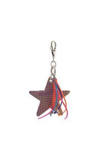 Llavero de tela con forma de estrella. -