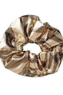 Scrunchie metalizado. -