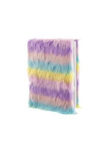Cuaderno peluche multicolor.  Medidas: 20 cm x 15 cm