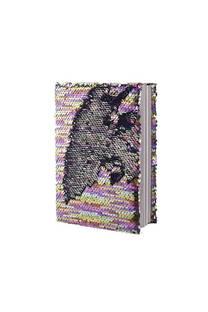 Cuaderno multicolor con lentejuelas reversibles.  Medidas: 20 cm x 15 cm