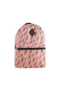 Mochila escolar grande estampado rayos rosa con bolsillos y tiras regulables.  Medidas 30 cm x 45 cm -